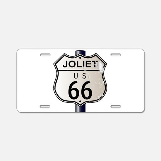 Joliet Route 66 Sign Aluminum License Plate
