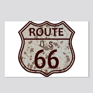 Weathered Route 66 Sign Postcards (Package of 8)