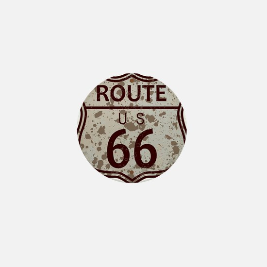 Weathered Route 66 Sign Mini Button