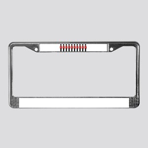 Thin Red Line License Plate Frame