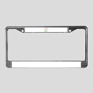 Diamond Starburst License Plate Frame