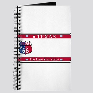 Texas State License Plate Journal