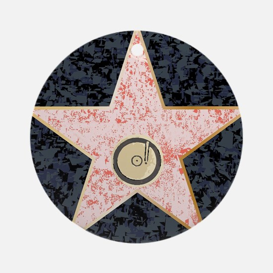 Hollywood Music Walk of Fame Round Ornament
