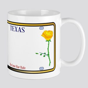 Texas Yellow Rose License Plate Mugs