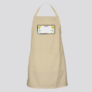 Texas Yellow Rose License Plate Apron