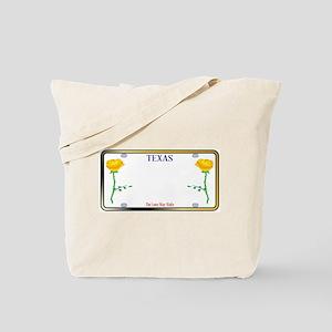 Texas Yellow Rose License Plate Tote Bag