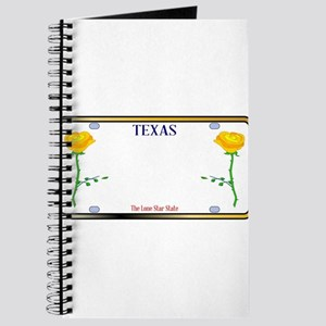 Texas Yellow Rose License Plate Journal