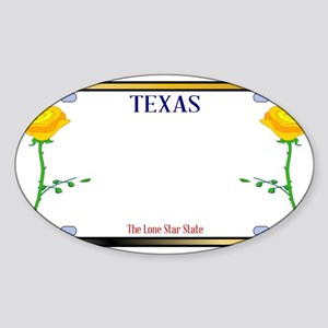 Texas Yellow Rose License Plate Sticker
