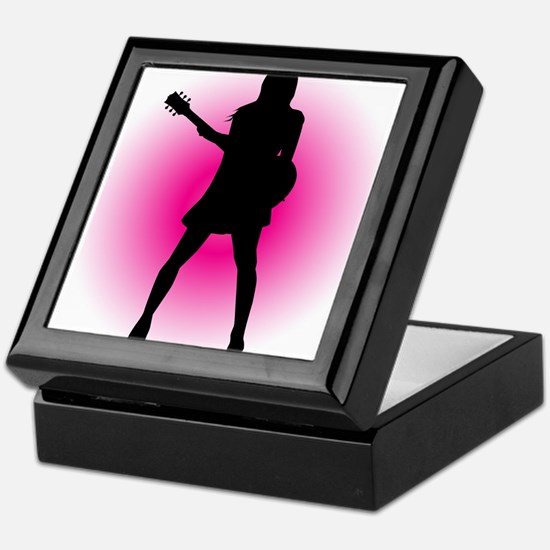 Girl Guitarist Keepsake Box