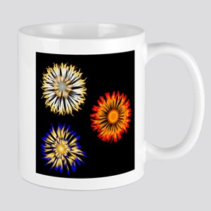 Abstract Flowers Mugs