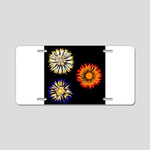 Abstract Flowers Aluminum License Plate