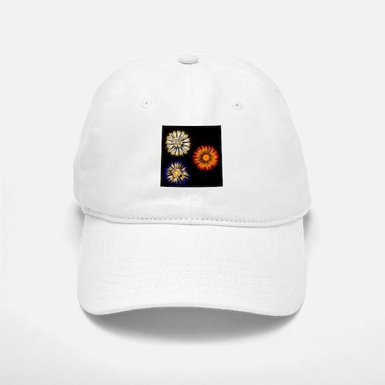 Abstract Flowers Baseball Baseball Cap
