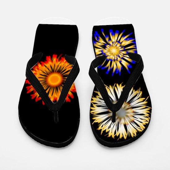 Abstract Flowers Flip Flops