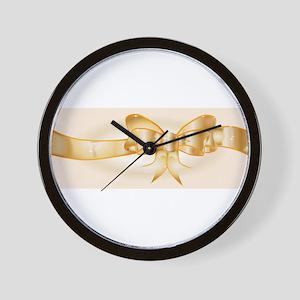 Golden Ribbon Wall Clock