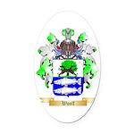 Woolf Oval Car Magnet