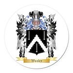 Wooley Round Car Magnet