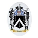 Wooley Oval Ornament