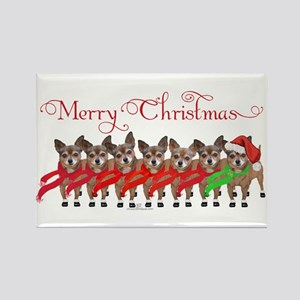 Christmas Chihuahuas Rectangle Magnet
