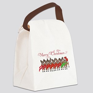 Christmas Chihuahuas Canvas Lunch Bag