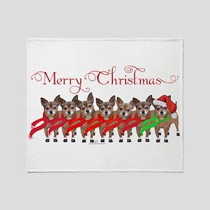 Christmas Chihuahuas Throw Blanket