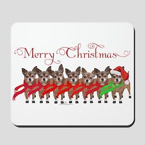 Christmas Chihuahuas Mousepad