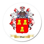 Wool Round Car Magnet