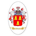 Wool Sticker (Oval 10 pk)