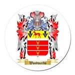 Woodwards Round Car Magnet