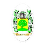 Woods Oval Car Magnet