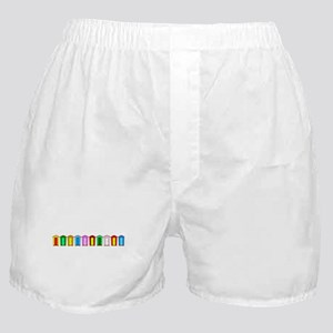 Colourful Beach Huts Boxer Shorts
