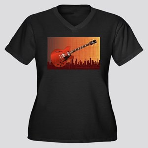 Grunge City Guitar Plus Size T-Shirt