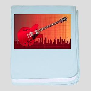 Grunge City Guitar baby blanket