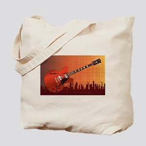 Grunge City Guitar Tote Bag