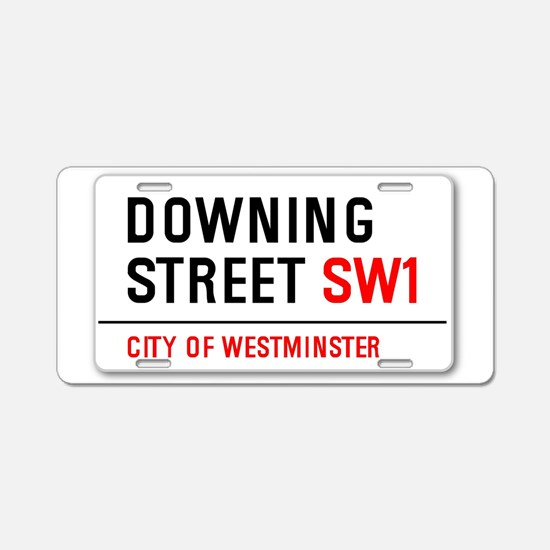 Downing Street Aluminum License Plate