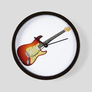 Sunburst Electric Guitar Wall Clock