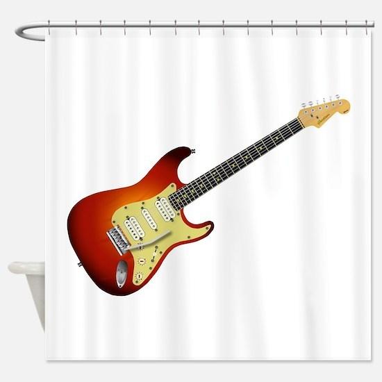 Sunburst Electric Guitar Shower Curtain