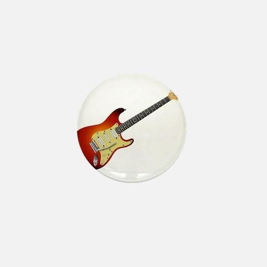 Sunburst Electric Guitar Mini Button