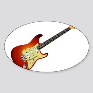 Sunburst Electric Guitar Sticker