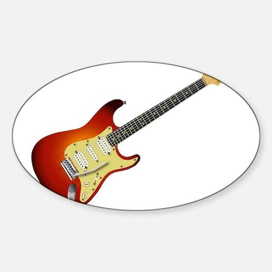 Sunburst Electric Guitar Decal