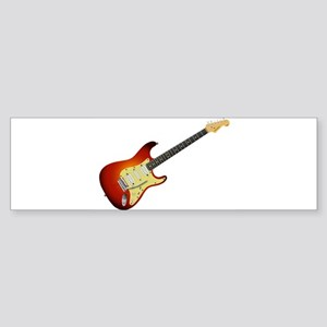 Sunburst Electric Guitar Bumper Sticker