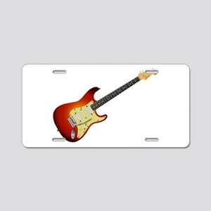 Sunburst Electric Guitar Aluminum License Plate