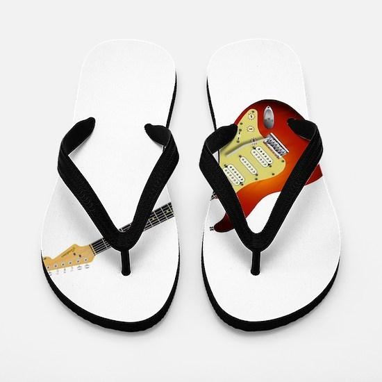 Sunburst Electric Guitar Flip Flops