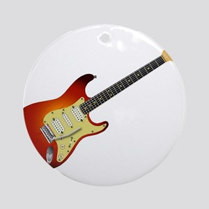Sunburst Electric Guitar Round Ornament