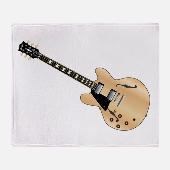 Left Handed Guitart Throw Blanket