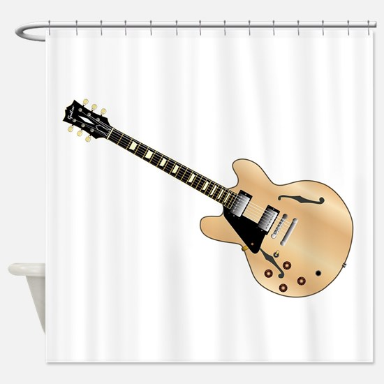 Left Handed Guitart Shower Curtain