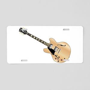 Left Handed Guitart Aluminum License Plate