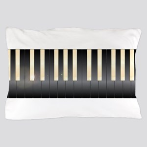 White And Black Piano Keys Pillow Case
