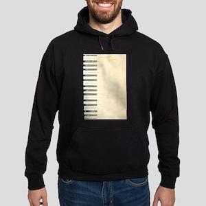 Antique Piano Background Hoodie (dark)
