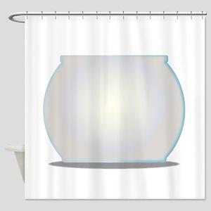Empty Goldfish Bowl Shower Curtain