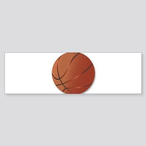Basketball Over White Background Bumper Sticker